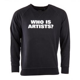 """Sweat noir """"WHO IS ARTISTS"""" homme Artists"""