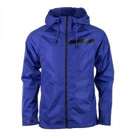 Veste coupe vent à capuche bleue homme CALVIN KLEIN marque pas cher prix dégriffés destockage