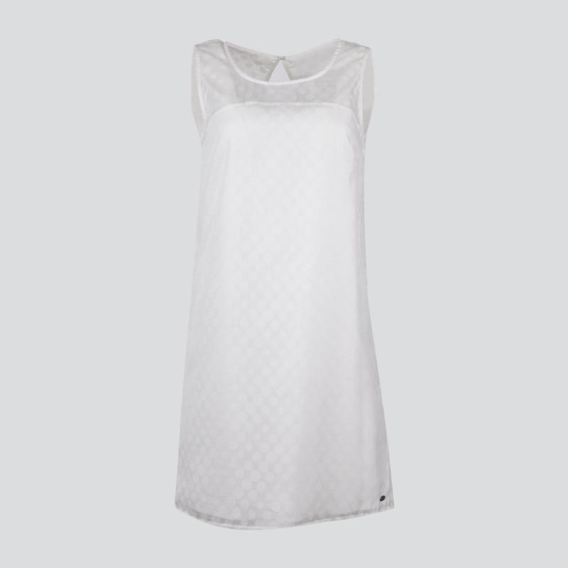 Robe blanche à pois femme DDP marque pas cher prix dégriffés destockage
