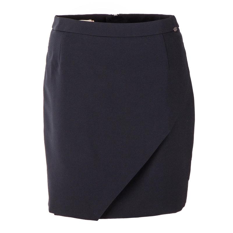 Jupe portefeuille noire femme DDP marque pas cher prix dégriffés destockage