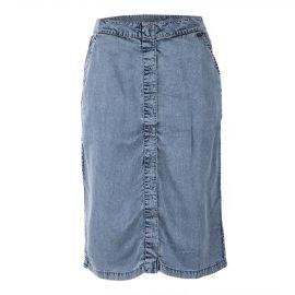 Jupe mi-longue en jean boutonnée femme DDP marque pas cher prix dégriffés destockage