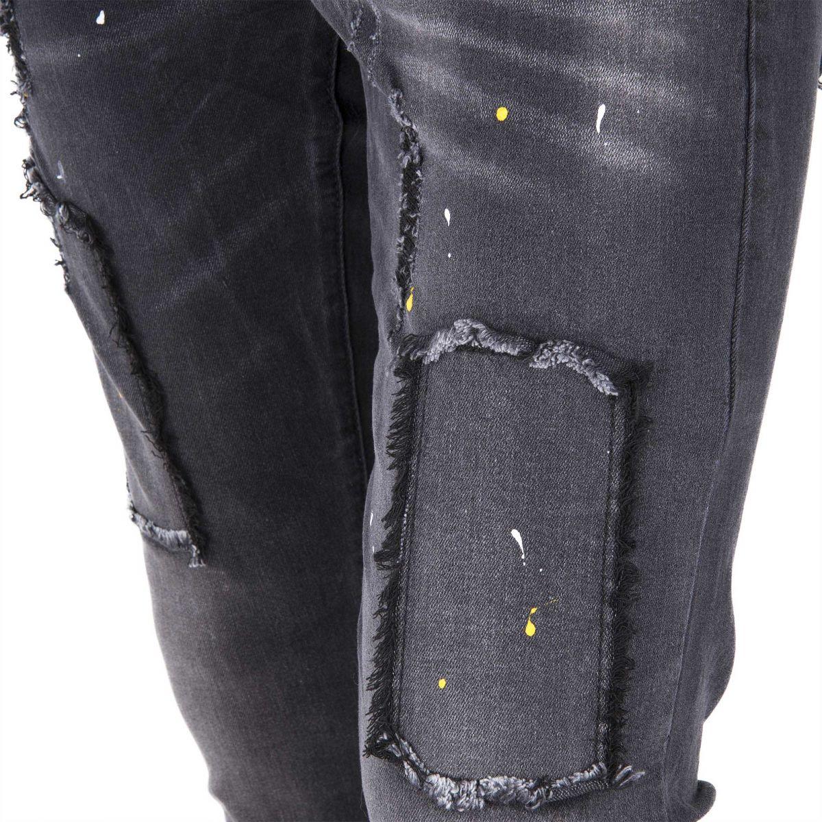 jean skinny stretch noir empi cements d chiri s homme blue. Black Bedroom Furniture Sets. Home Design Ideas