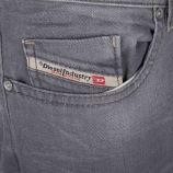 Jean gris regular slim-tapered BUSTER 0853T STRETCH homme DIESEL marque pas cher prix dégriffés destockage