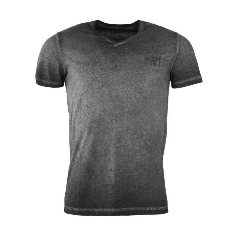 Tee shirt gris délavé homme LITTLE MARCEL marque pas cher prix dégriffés destockage