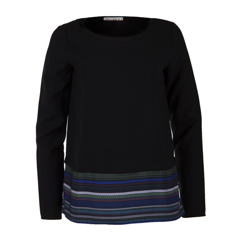 Tee shirt manches longues bi-colore femme LITTLE MARCEL marque pas cher prix dégriffés destockage