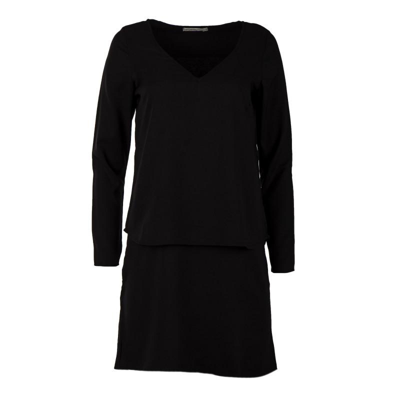 Robe noire détail dentelle femme LITTLE MARCEL marque pas cher prix dégriffés destockage