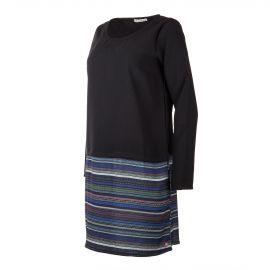 Robe noire et motifs aztèques femme LITTLE MARCEL marque pas cher prix dégriffés destockage