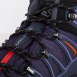 Chaussures de marche violette GORE-TEX Femme SALOMON marque pas cher prix dégriffés destockage