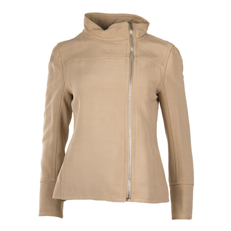 Veste style perfecto beige femme COURREGES marque pas cher prix dégriffés destockage