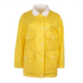 Veste en toile cirée jaune à carreaux femme COURREGES marque pas cher prix dégriffés destockage