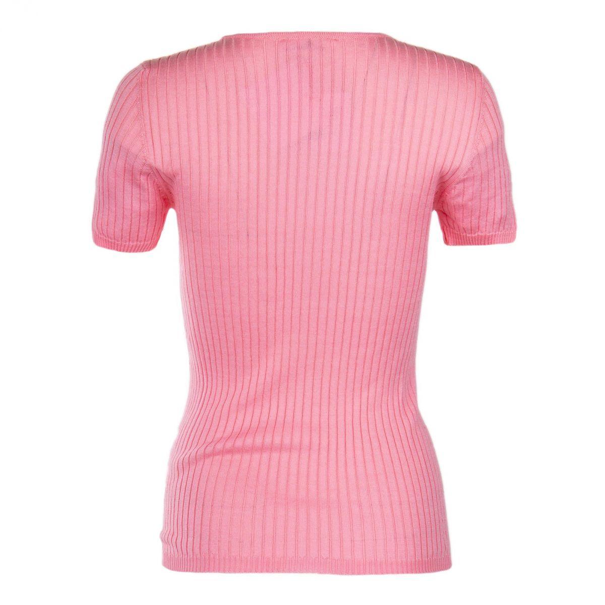 tee shirt manches courtes c tel rose femme courreges prix d griff. Black Bedroom Furniture Sets. Home Design Ideas