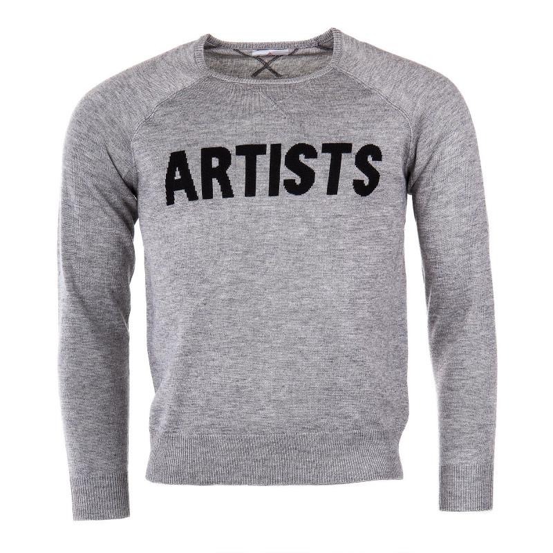 Pull gris homme ARTISTS marque pas cher prix dégriffés destockage