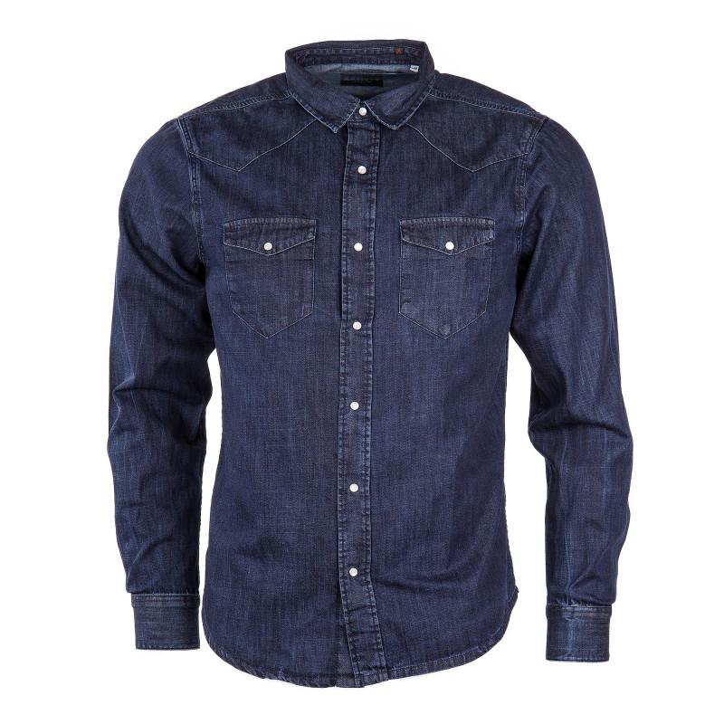 Chemise en jean bleu brut homme ARTISTS marque pas cher prix dégriffés destockage