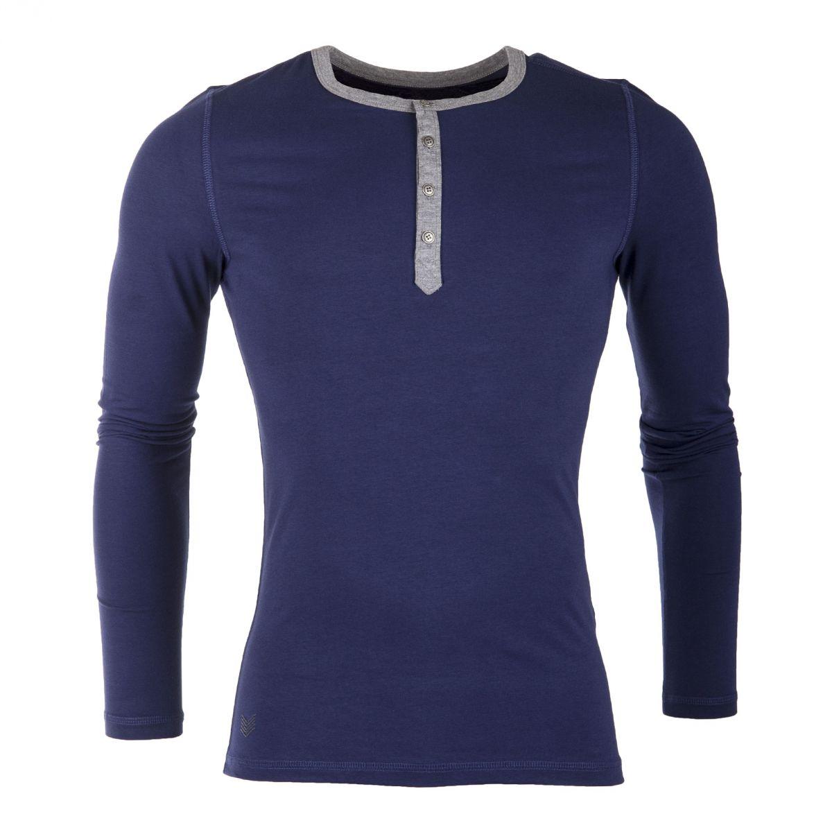tee shirt manches longues en coton homme hbt prix d griff. Black Bedroom Furniture Sets. Home Design Ideas