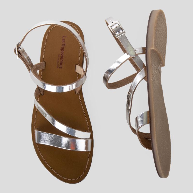 Sandales en cuir BADEN femme LES TROPEZIENNES marque pas cher prix dégriffés destockage