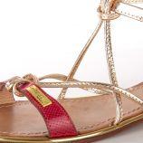 Sandales à brides croisées bi-matière hirondel femme LES TROPEZIENNES PAR M. BELARBI marque pas cher prix dégriffés destockage