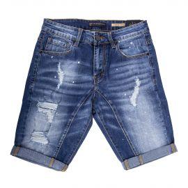 Short en jean destroy et délavé homme BLUE SPENCER'S