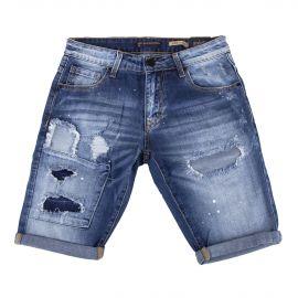 Bermuda en jean brut homme BLUE SPENCER'S marque pas cher prix dégriffés destockage