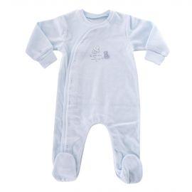 Pyjama bleu à boutons bébé ABSORBA