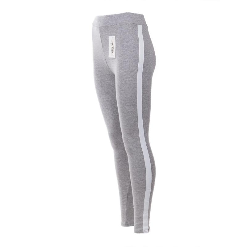 Legging en coton à bandes blanches femme MANOUKIAN marque pas cher prix dégriffés destockage