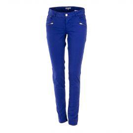 Pantalon en toile bleu électrique femme BEST MOUNTAIN marque pas cher prix dégriffés destockage