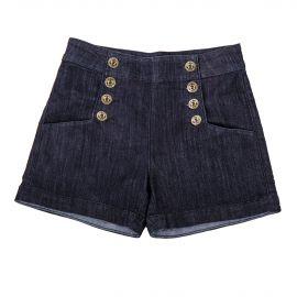 Short en jean brut taille haute femme BEST MOUNTAIN marque pas cher prix dégriffés destockage