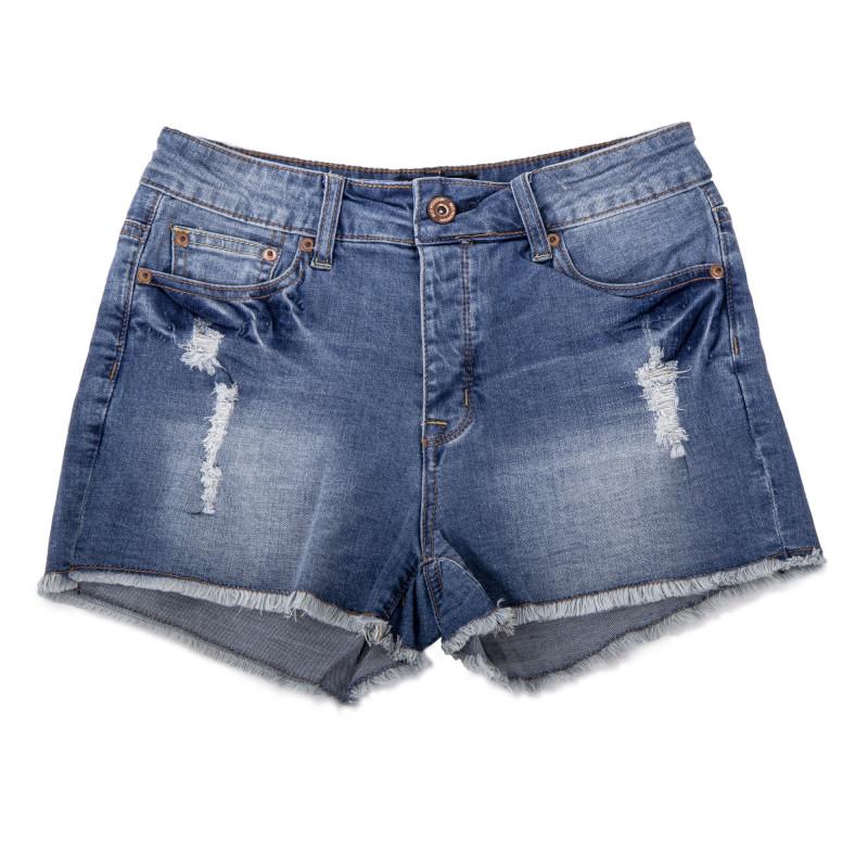 Short en jean bleu détails destroy femme BEST MOUNTAIN marque pas cher prix dégriffés destockage