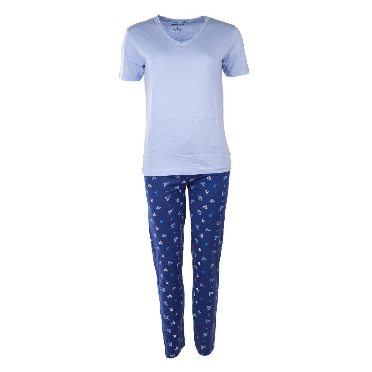 ensemble de pyjama avec bas fleurs femme rodier prix d griff. Black Bedroom Furniture Sets. Home Design Ideas