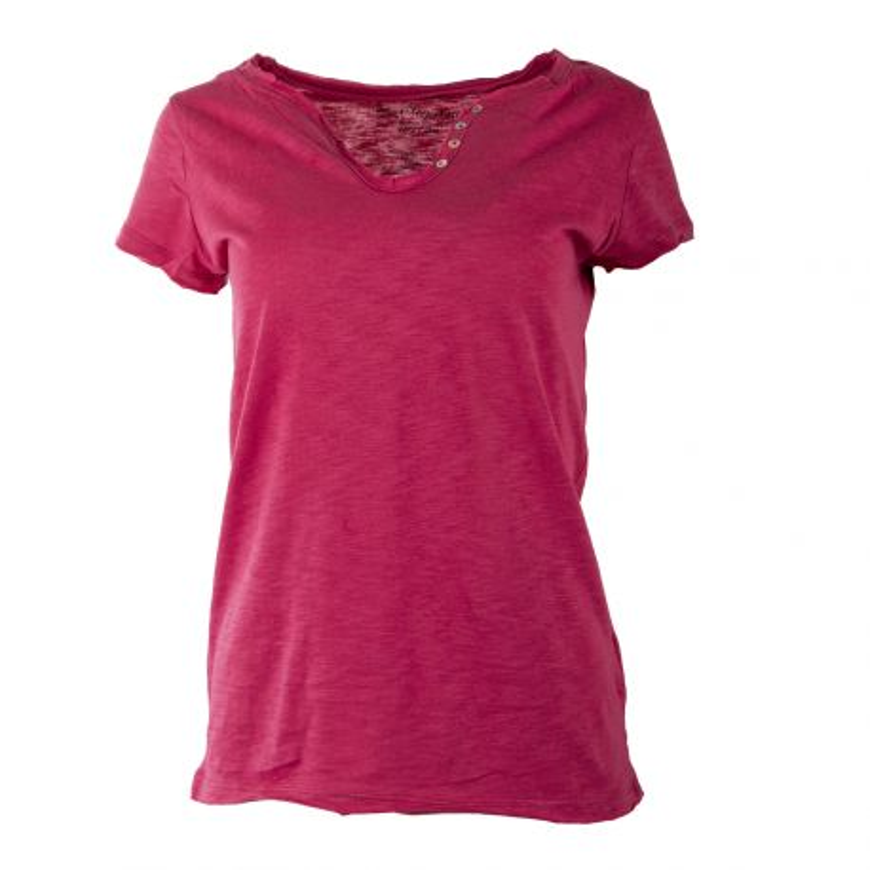 Tee shirt col V à boutons femme BEST MOUNTAIN marque pas cher prix dégriffés destockage