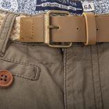 Short kaki ceinture tressé fille BEST MOUNTAIN marque pas cher prix dégriffés destockage