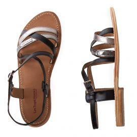 Sandales noires et argentées HAPAX femme LES TROPEZIENNES
