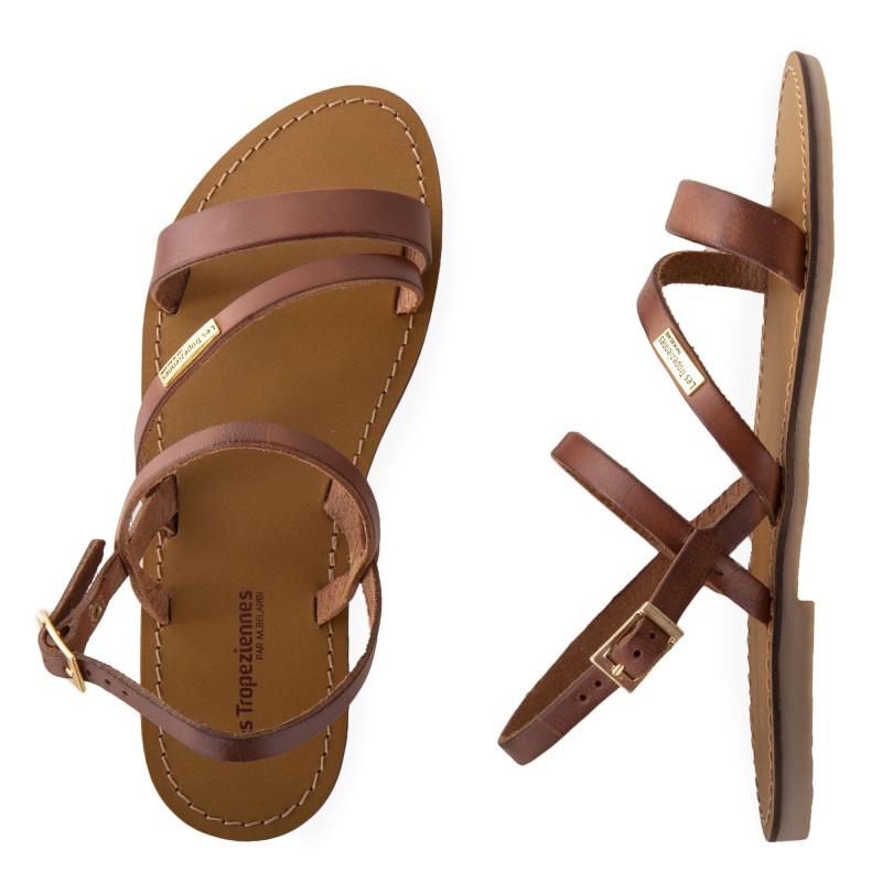 Sandales brides en cuir BADEN femme LES TROPEZIENNES marque pas cher prix dégriffés destockage