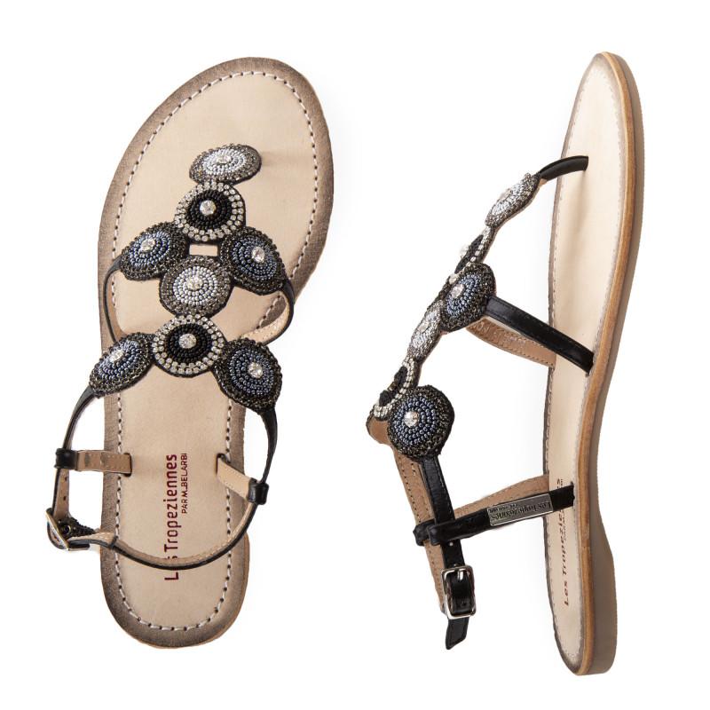 Sandales à perles et brillants OCHANA femme LES TROPEZIENNES marque pas cher prix dégriffés destockage