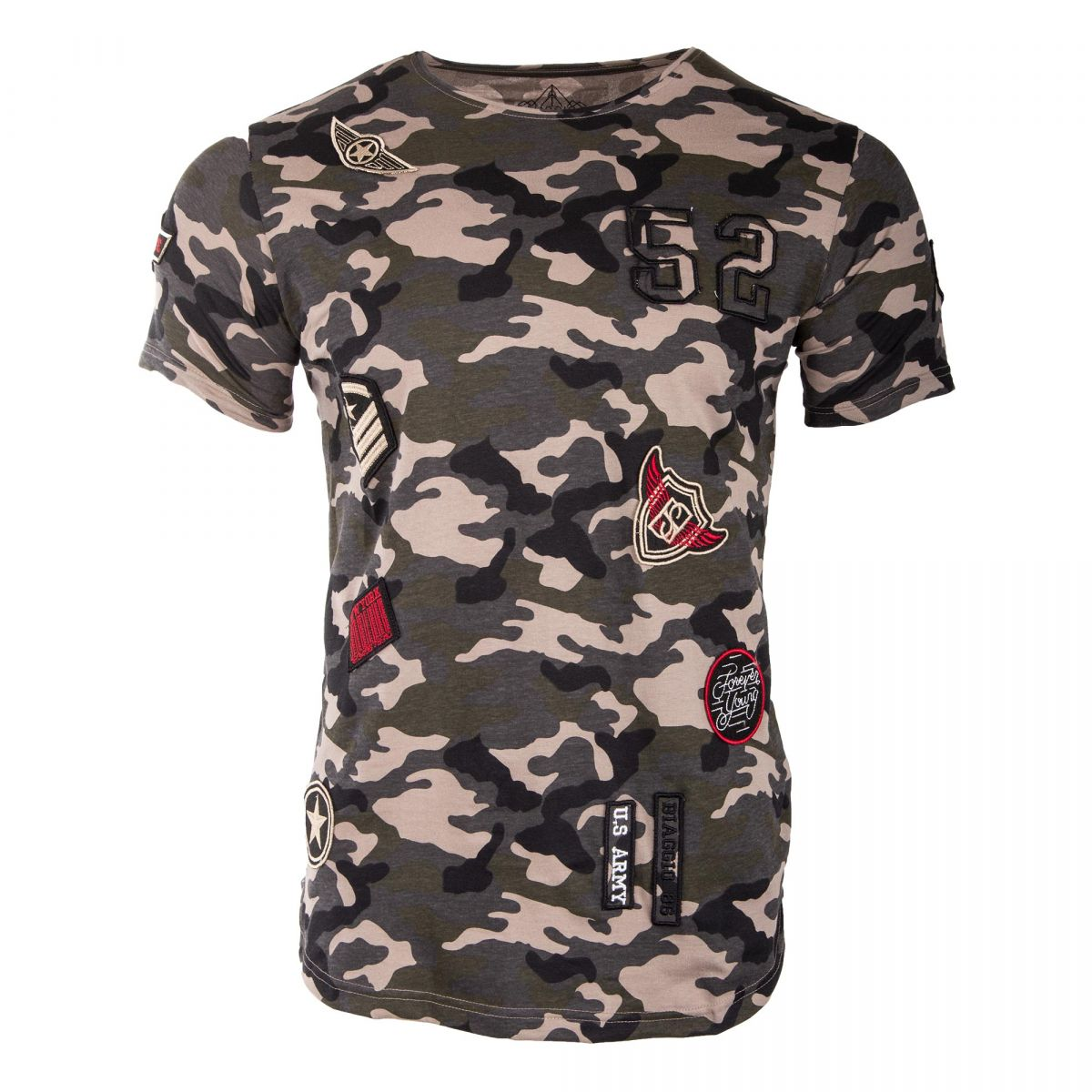 tee shirt manches courtes camouflage homme biaggio prix. Black Bedroom Furniture Sets. Home Design Ideas