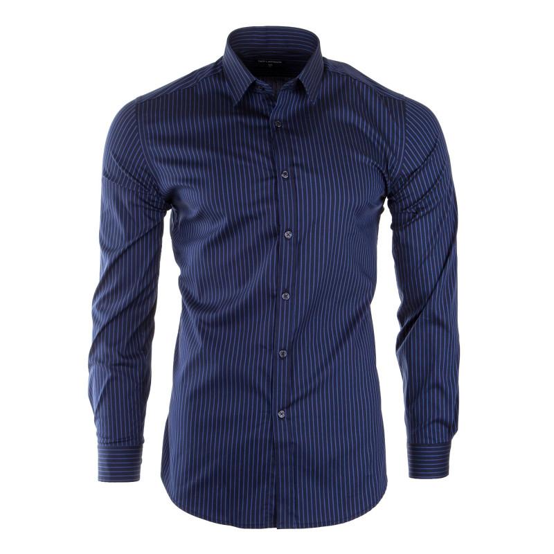 Chemise à rayures manches longues homme TED LAPIDUS marque pas cher prix dégriffés destockage