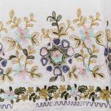 Robe en coton col bardot et broderies florales femme JAD marque pas cher prix dégriffés destockage
