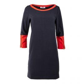 Robe rouge et noire manches 3/4 femme JAD