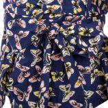 Haut cache-coeur motif papillons femme GOA marque pas cher prix dégriffés destockage