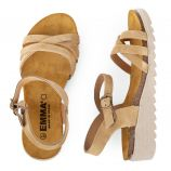 Sandales en cuir petit talon compensé femme EMMA