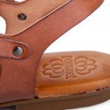 Sandales à brides croisées en cuir femme PORRONET marque pas cher prix dégriffés destockage