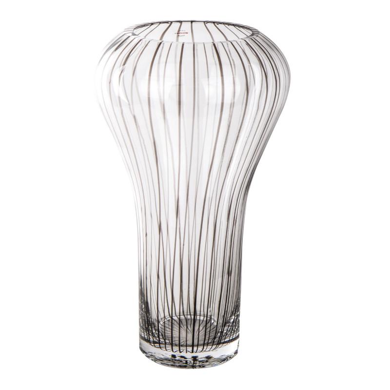 """Grand vase """"tulipe"""" rayé noir GUZZINI marque pas cher prix dégriffés destockage"""
