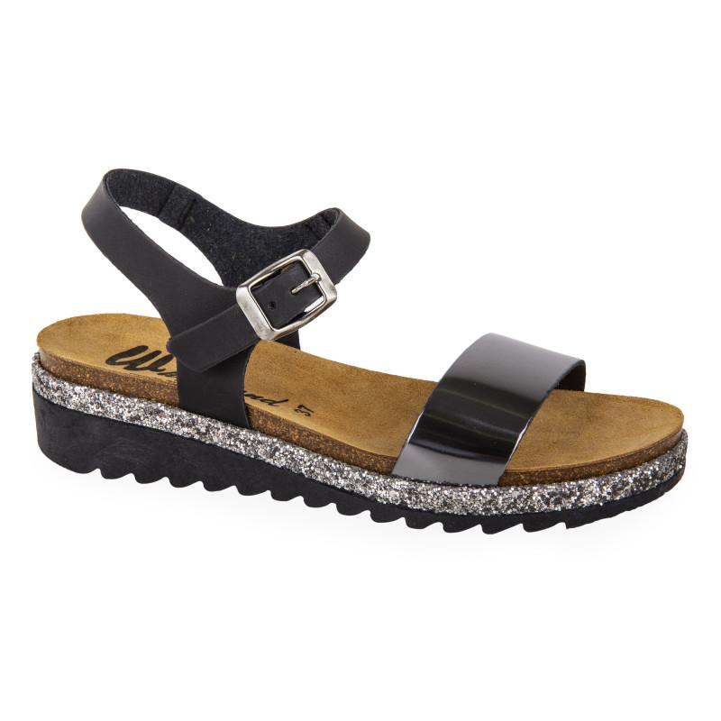 Sandales bi-colores femme WHY LAND marque pas cher prix dégriffés destockage