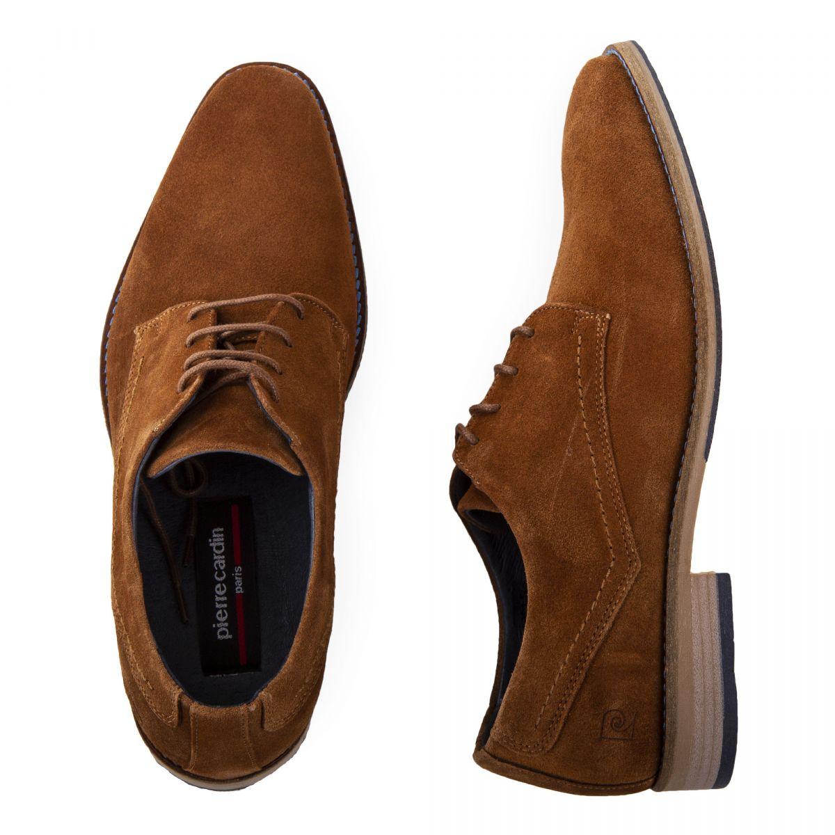 Chaussures en prix PIERRE Derbies dégriffé daim à homme CARDIN wn08OXPk