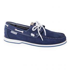 Chaussures bateau bleu en cuir homme ORLANDO