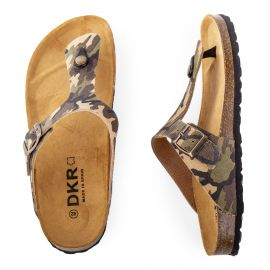 Tongs camouflage homme DKR