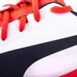 Chaussures de Foot Crampon Blanche & Rouge Homme PUMA marque pas cher prix dégriffés destockage