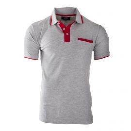 Polo bi-colore en coton côtelé homme MANOUKIAN marque pas cher prix dégriffés destockage