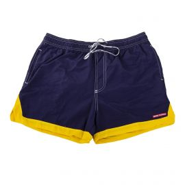 SHORT DE BAIN 17533-AS NAVY/TURQUOISE