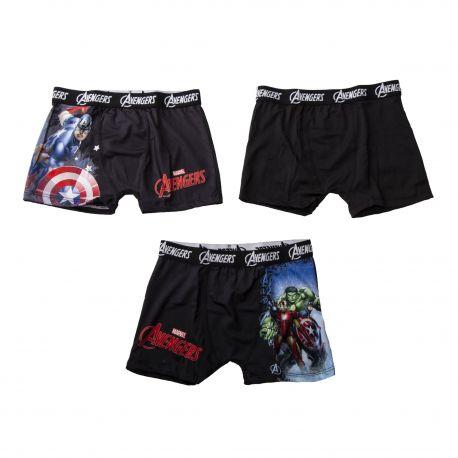 Lot de 3 boxers Avengers garçon MARVEL marque pas cher prix dégriffés destockage