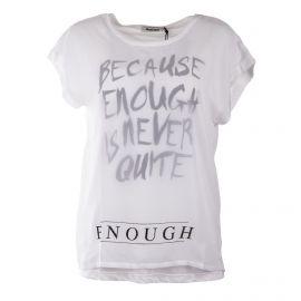 Tee shirt à manches courtes blanc slogan femme RED SOUL marque pas cher prix dégriffés destockage